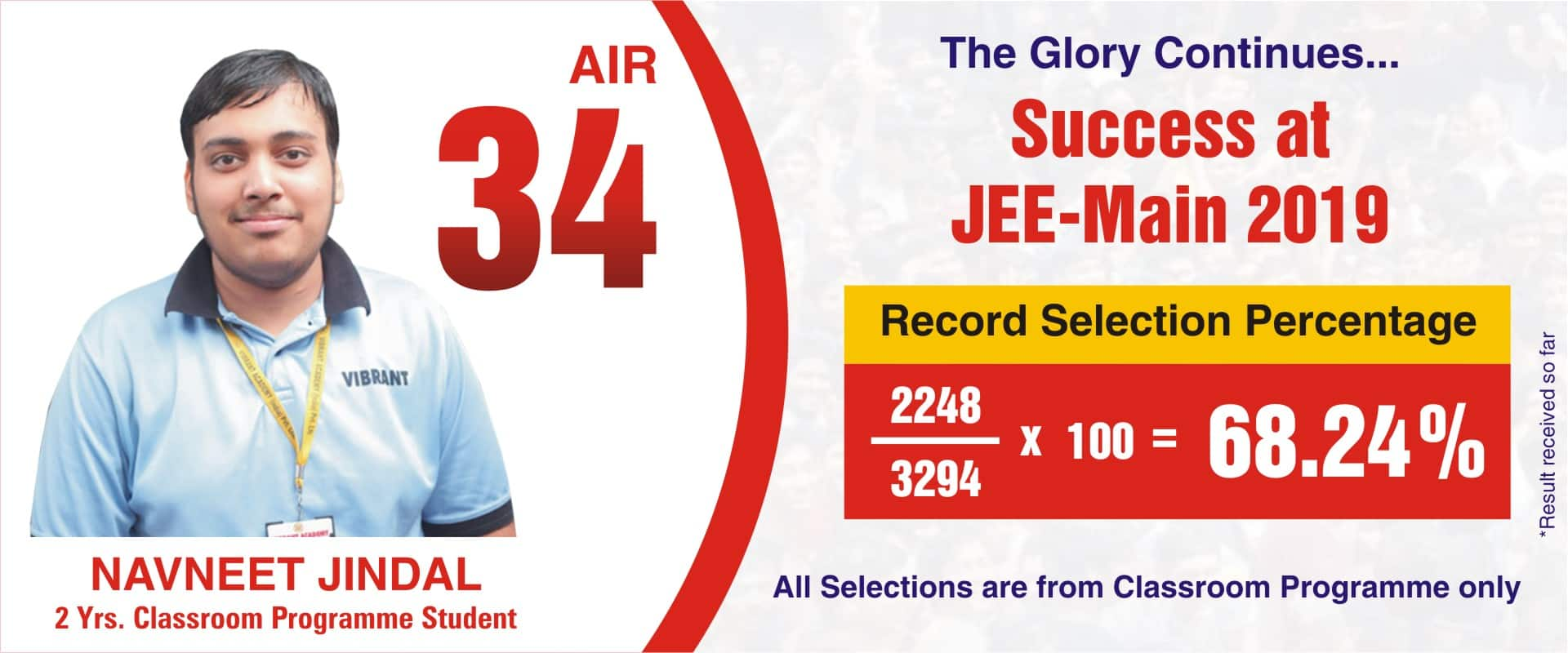 JEE MAIN RESULT IMAGE